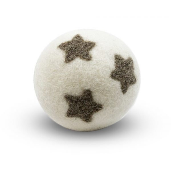 boule de séchage blanche avec 3 petites étoiles - assouplissant naturel
