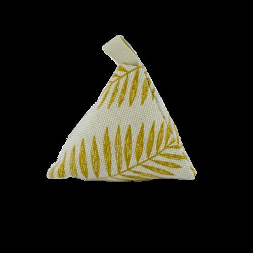 sachet senteur lavande avec des motifs dorés