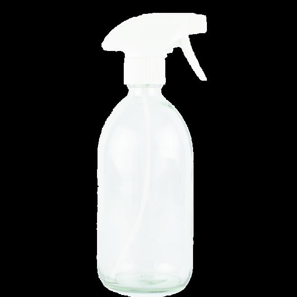 Flacon en verre blanc