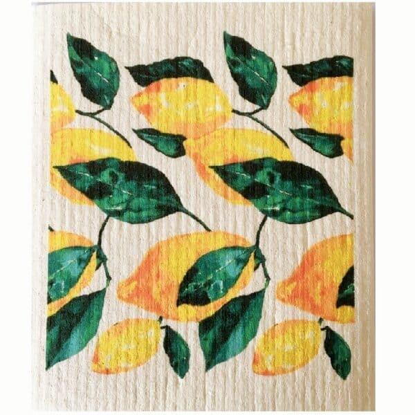 essuie tout lavable motif citrons