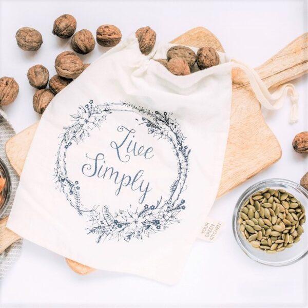sac courses réutilisable en coton
