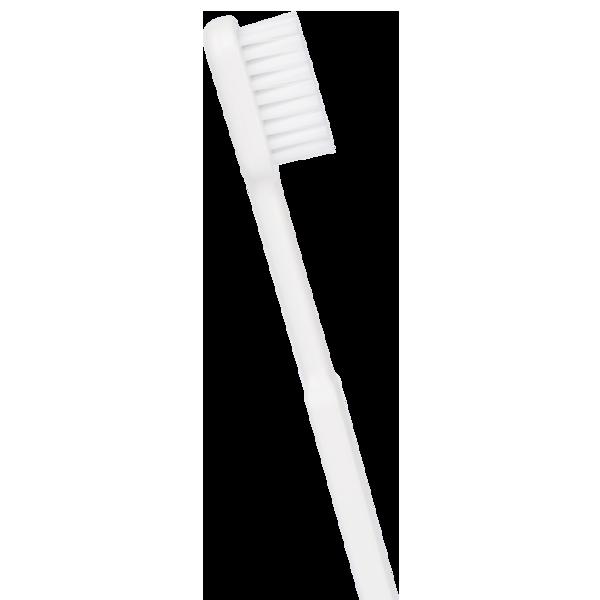Brosse à dent en bioplastique de couleur blanche