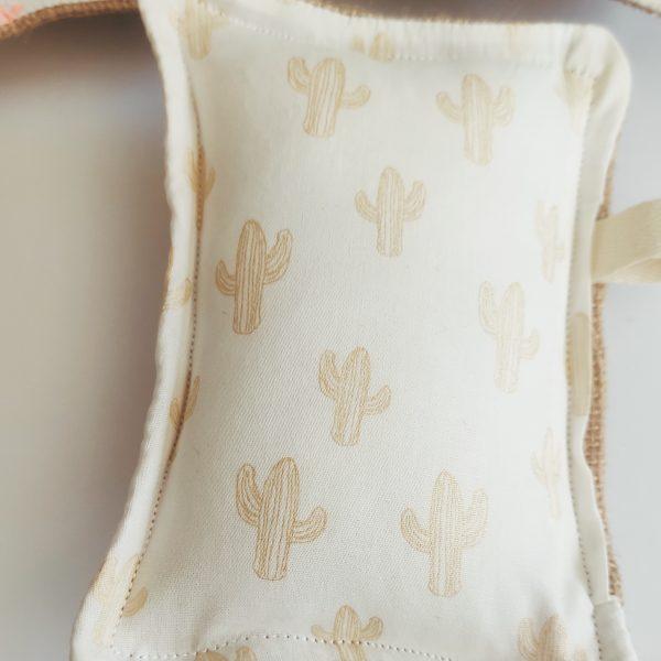 détail des imprimés cactus beige
