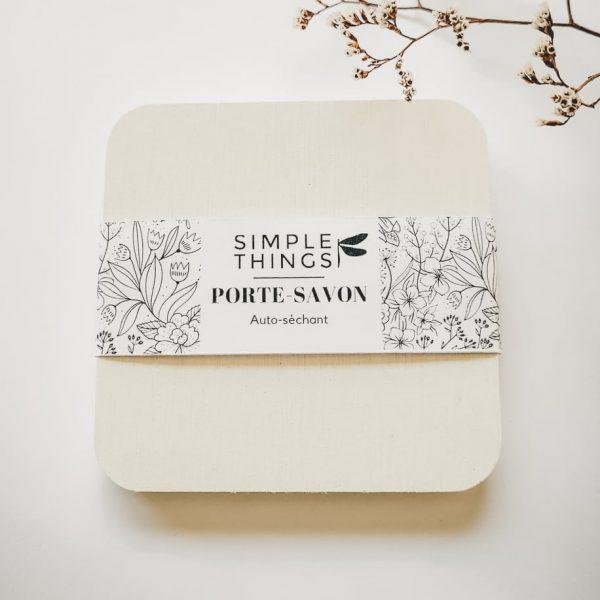 Porte-savon autoséchant en diatomite de couleur blanche
